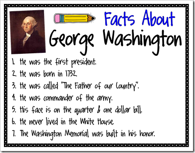 Abraham lincoln clipart fact. Facts about george washington