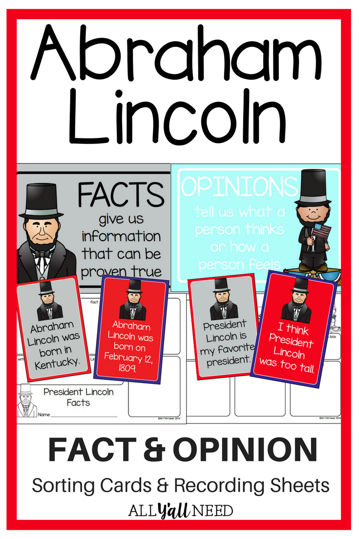 Abraham lincoln clipart fact. And opinion all y