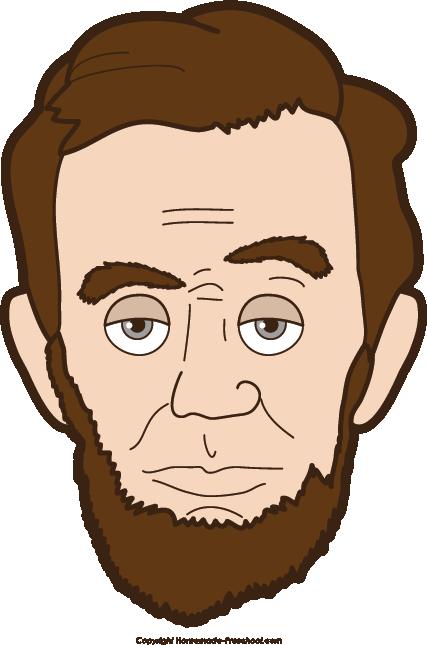Free patriotic. Abraham lincoln clipart head