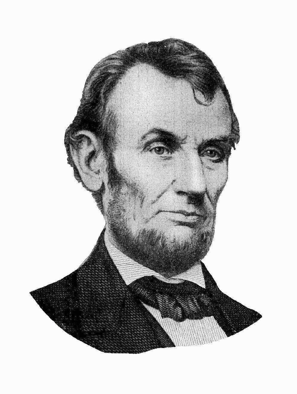 Antique images free digital. Abraham lincoln clipart head