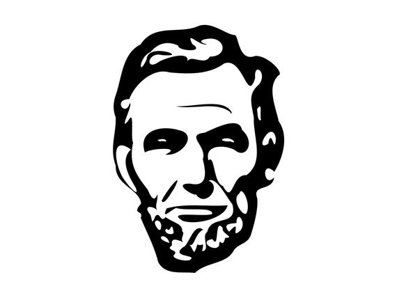 Svg silhouette cutting file. Abraham lincoln clipart head