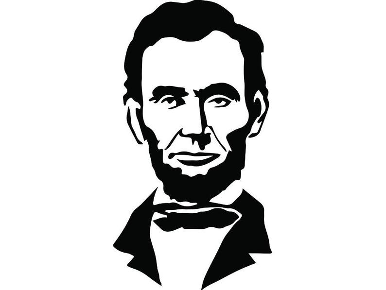President famous american history. Abraham lincoln clipart illustration