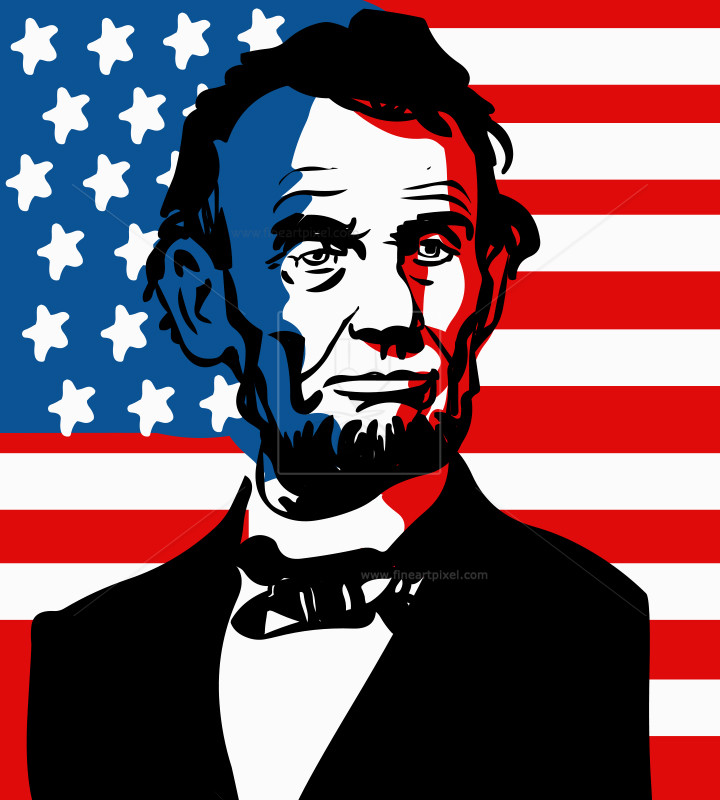 July th free vectors. Abraham lincoln clipart illustration