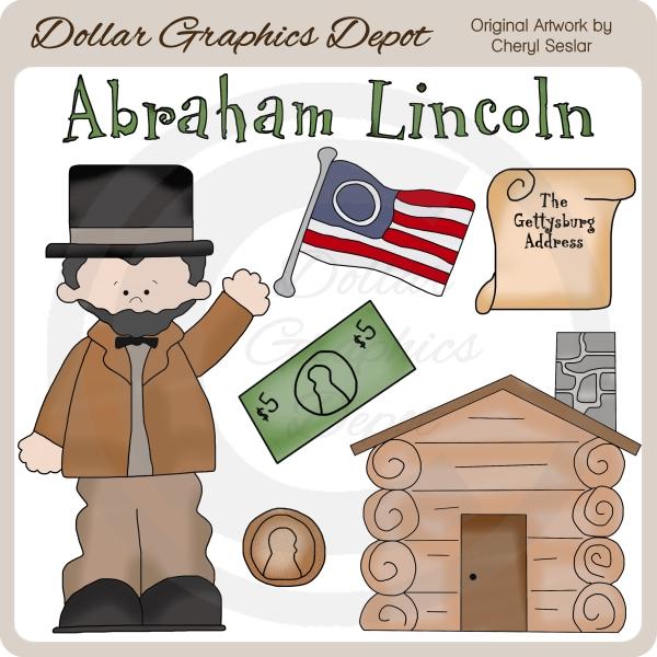 Clip art dollar graphics. Abraham lincoln clipart kid