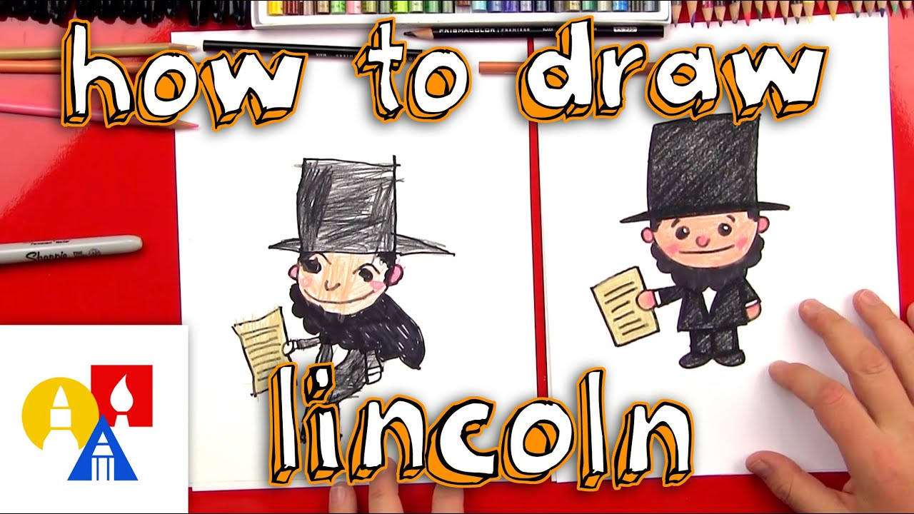Abraham lincoln clipart kid. How to draw a