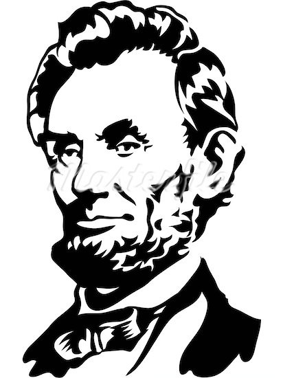 President silhouette at getdrawings. Abraham lincoln clipart line