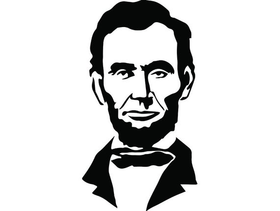 Abraham lincoln clipart line. President famous american history