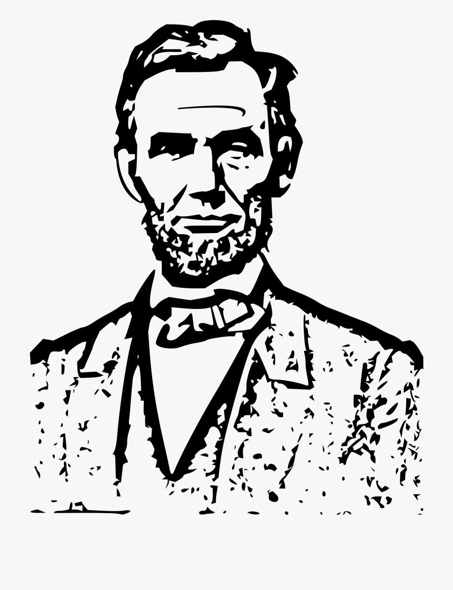 President black and white. Abraham lincoln clipart line