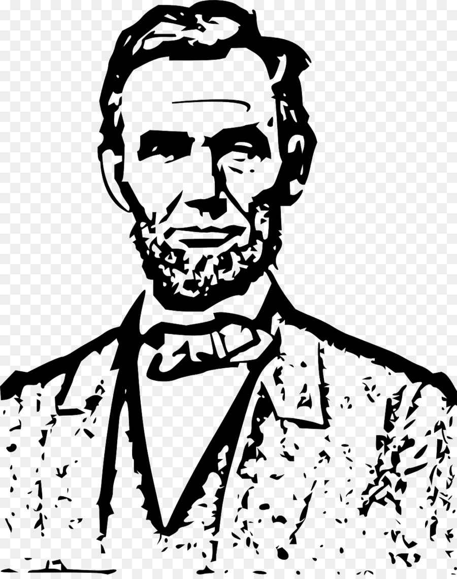 Abraham lincoln clipart line. President of the united