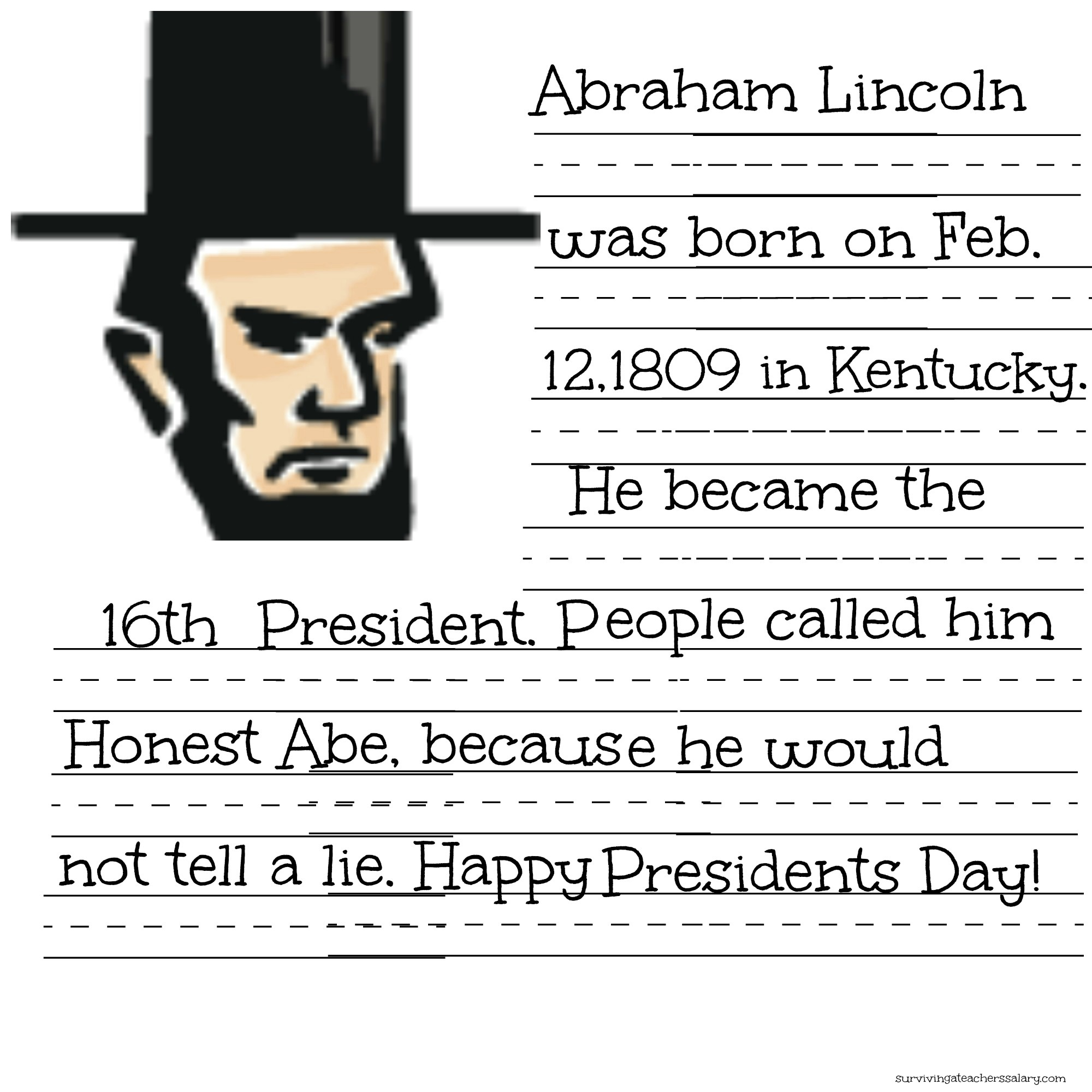 photo about Printable Pictures of Abraham Lincoln known as Abraham lincoln clipart printable, Abraham lincoln printable