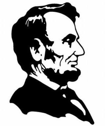Abraham lincoln clipart silhouette. Memorial at getdrawings com