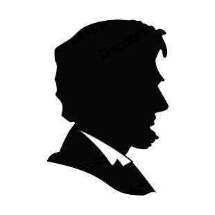 Pinterest silhouettes and cricut. Abraham lincoln clipart silhouette