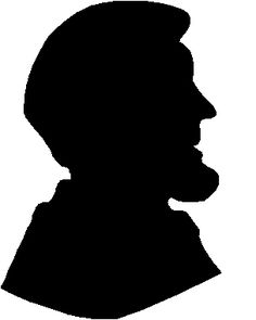 Abraham lincoln clipart silhouette. Silhouettes of george washington