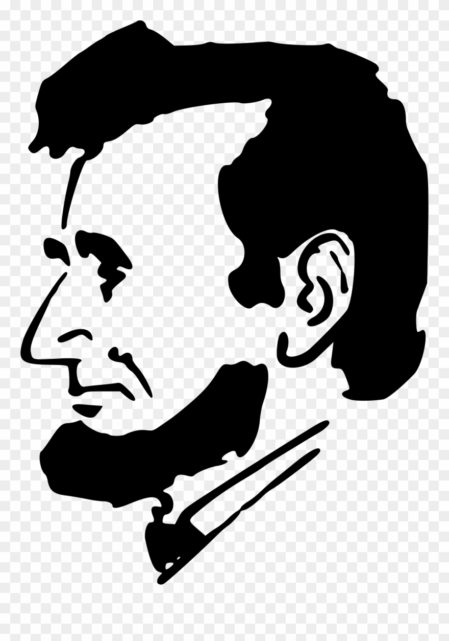 Abraham lincoln clipart silhouette. Big image silhouettes of