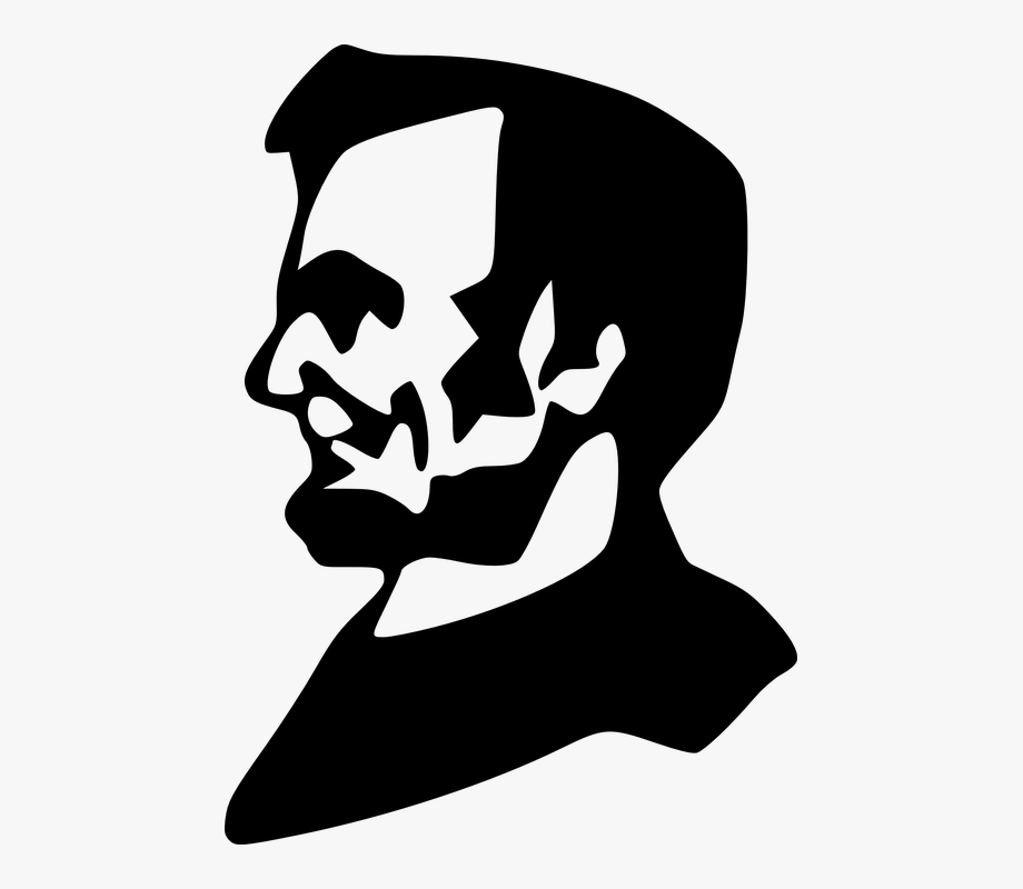 Abraham lincoln clipart silhouette. Abe united states