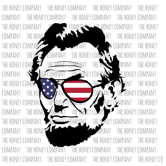 Cool abe png dxf. Abraham lincoln clipart svg
