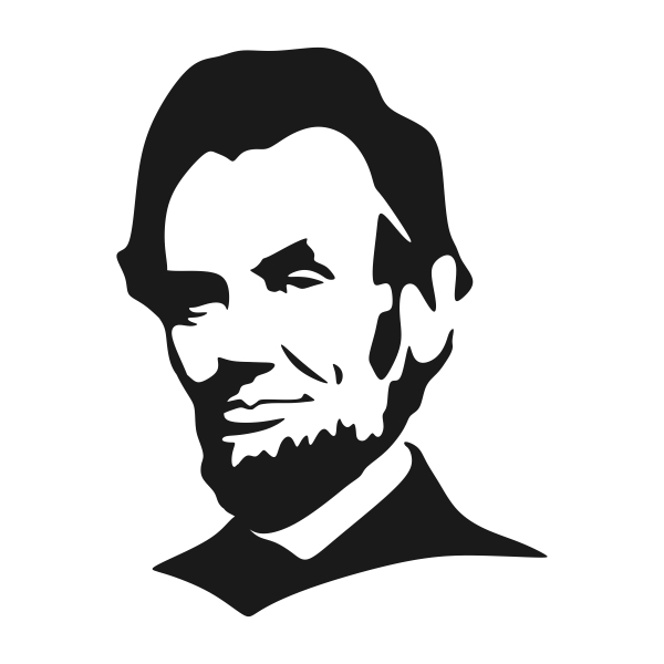 Abraham lincoln clipart svg. U s presidents cuttable