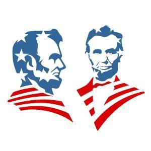 American us flag cuttable. Abraham lincoln clipart svg