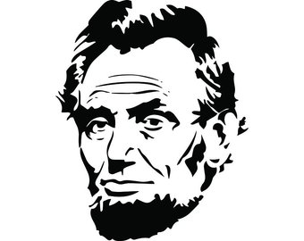Abraham lincoln clipart svg. Etsy president famous american