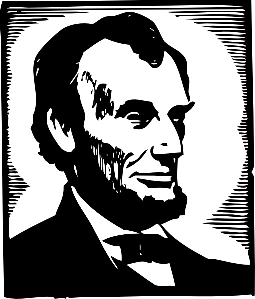 abraham lincoln clipart vector