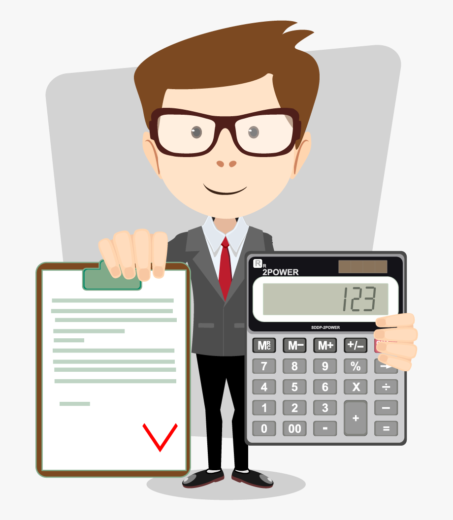 Accounting calculator free frame. Accountant clipart