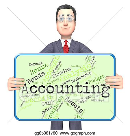 Accounting clipart accounting book. Stock illustration words indicates