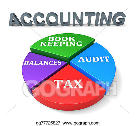 Stock illustrations chart shows. Accounting clipart accounting book