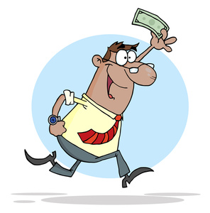 Accountant image waving a. Bill clipart animated