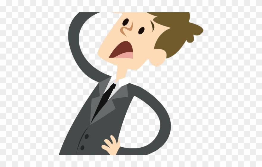 Accounting clipart animated. Analyst accountant sad man