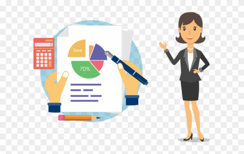 Accountant clipart bank accountant. Secretary officer art of