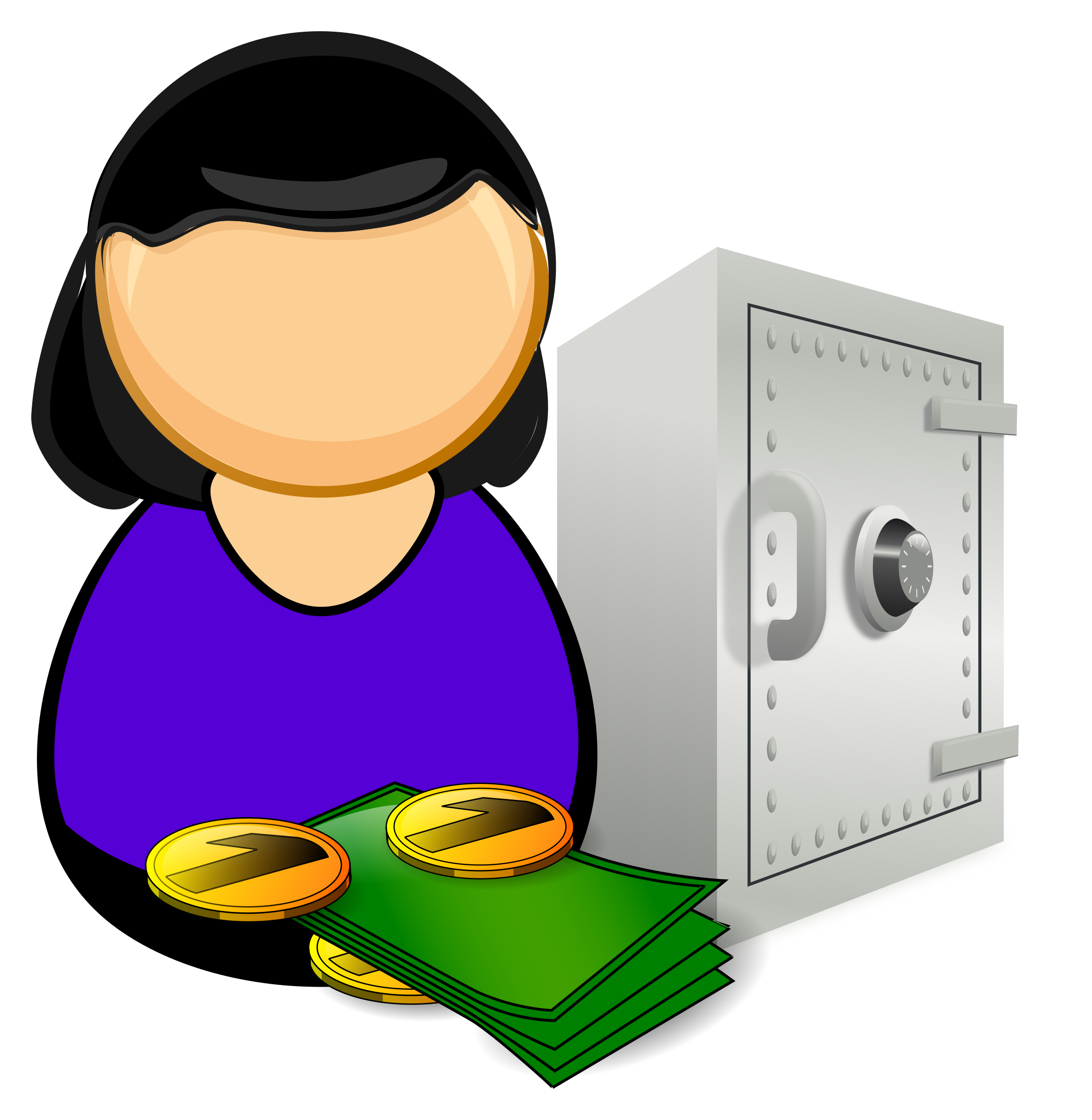 Accountant clipart bank accountant. Officer icons png free