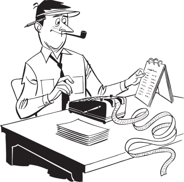 Drawing at getdrawings com. Accountant clipart black and white