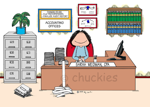 Accountant clipart desk. Occupationschuckies cartoons personalised picture