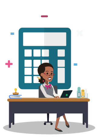 Virtual receptionists for accountants. Accountant clipart desk