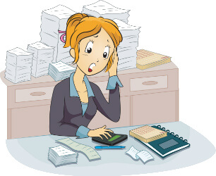 steps to becoming. Accountant clipart desk