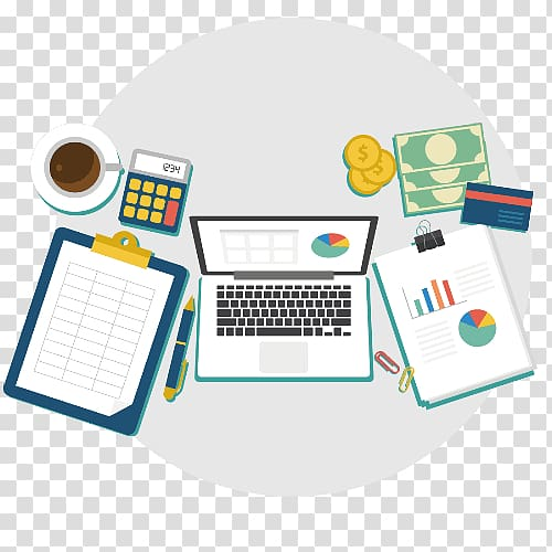 Accountant clipart desk. Financial accounting accessories
