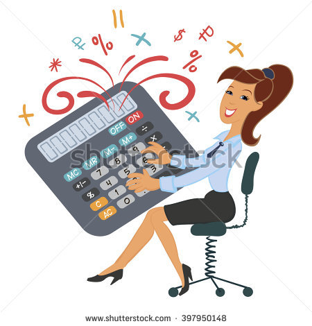 Station . Accountant clipart female accountant