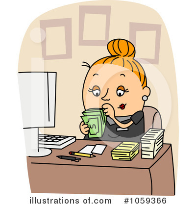 Illustration by bnp design. Accountant clipart female accountant