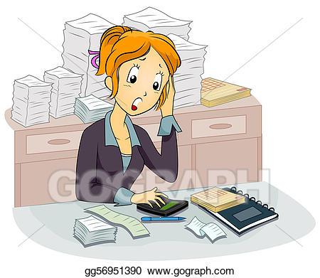 Stock illustration accountant illustrations. Bank clipart female