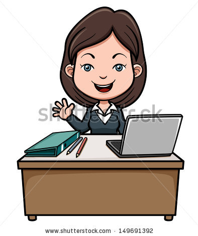 Station. Accountant clipart female accountant