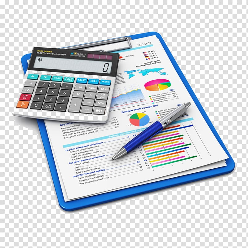 White and black calculator. Finance clipart accounting system