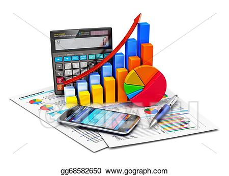 Statistics clipart financial account. And accounting concept stock