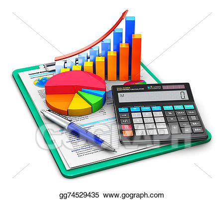 Finance clipart accounting office. And concept stock illustration