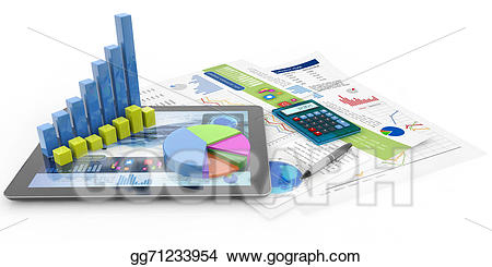 Stock illustrations concept. Accounting clipart financial document