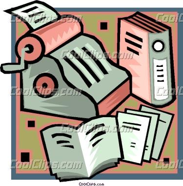 Accounting vector clip art. Accountant clipart financial record
