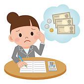 Accountant clipart payroll clerk. Salary stock illustrations royalty