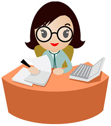 Rupal bookkeeping and services. Accountant clipart payroll clerk
