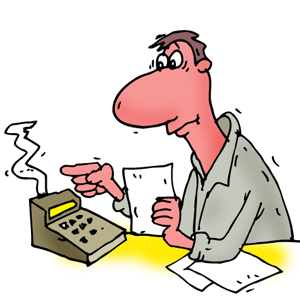 Index of images downloadable. Accountant clipart sad