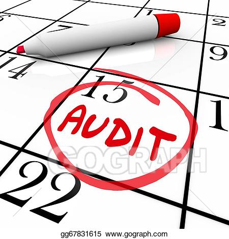 Stock illustration audit financial. Calendar clipart date