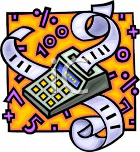 An . Accounting clipart adding machine